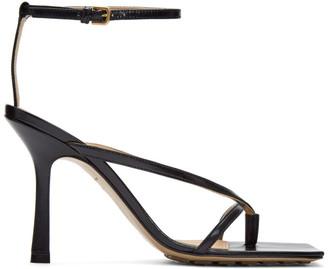 Bottega Veneta Black Stretch Sandals