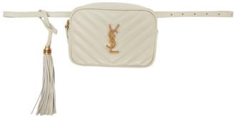 Saint Laurent White Lou Belt Bag