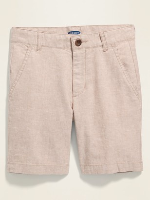 Old Navy Linen-Blend Built-In Flex Shorts for Boys