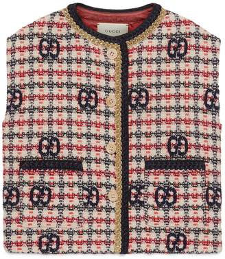 Gucci Children's GG tweed vest