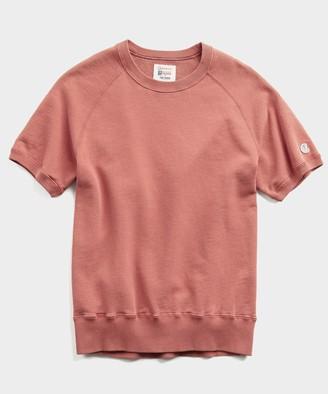 Terry Short Sleeve Sweatshirt in Rosewine