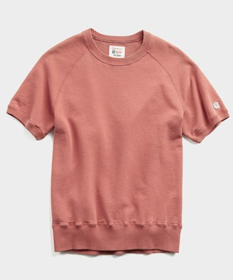 Todd Snyder + Champion Terry Short Sleeve Sweatshirt in Rosewine
