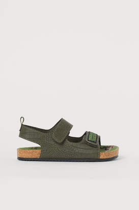 H&M Graphic-detail Sandals - Green