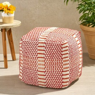 Bay Isle Home Ean Boho Square Outdoor Ottoman with Cushion