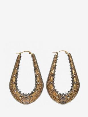 Alexander McQueen Floral Creole Earrings