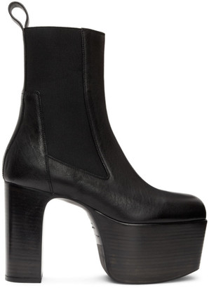 Rick Owens Black Kiss Chelsea Boots