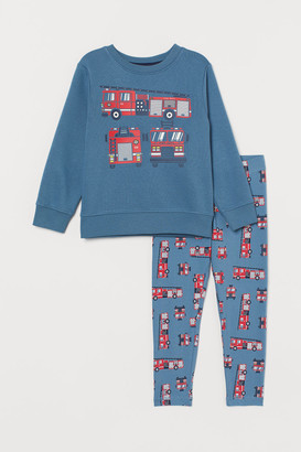 H&M Sweatshirt and Leggings - Blue