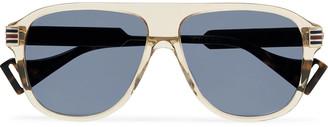 Gucci Aviator-Style Acetate And Gold-Tone Sunglasses