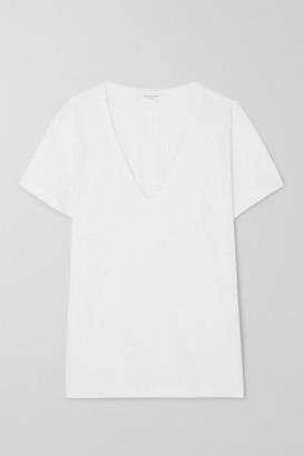 Rag & Bone The Vee Slub Pima Cotton-jersey T-shirt - White
