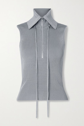 Peter Do Ribbed-knit Top - Gray