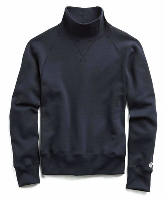 Todd Snyder + Champion Fleece Turtleneck Sweatshirt in Navy