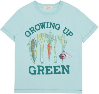 Peek Aren't You Curious Theodore Growing Up Green Graphic Tee