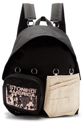 Raf Simons X Eastpak - Doubl'r Panelled Backpack - Mens - Black Multi