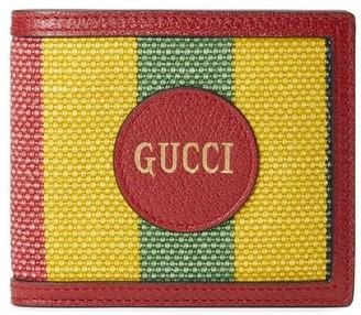 Gucci Baiadera stripe bi-fold wallet