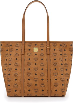 MCM Monogram Print Shopper Bag