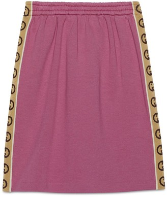 Gucci Children's cotton skirt with Interlocking G