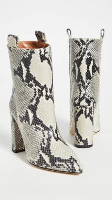 Paris Texas Snake Print Ankle Boots 100mm