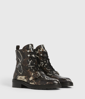 AllSaints Donita Leather Snake Boots