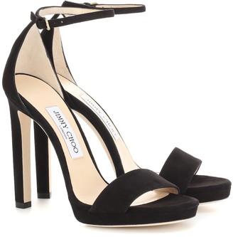 Jimmy Choo Misty 120 suede platform sandals