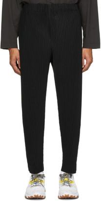 Issey Miyake Homme Plisse Black Pleated Trousers