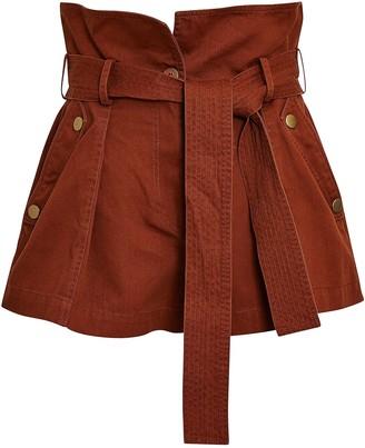 Ulla Johnson Elliott Tie-Waist Cotton Shorts