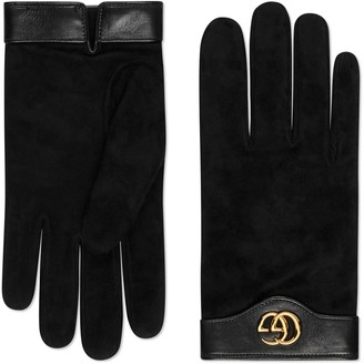 Gucci Suede gloves with Double G
