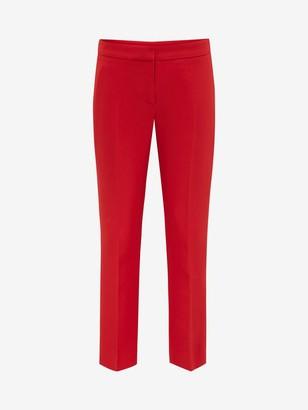 Alexander McQueen Light Wool Silk Cigarette Pants