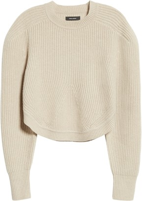 Isabel Marant Rib Wool & Cashmere Balloon Sleeve Sweater