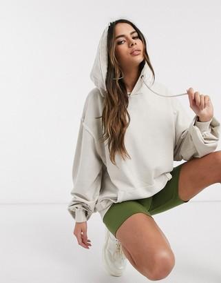 Asos Design DESIGN oversized boyfriend hoodie in washed stone
