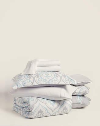 Violet Hill 10-Piece Sky Blue & Grey Kelly Comforter Set