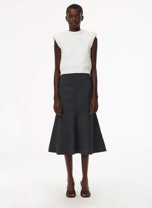 Tibi Garment Dyed Twill Long Skirt