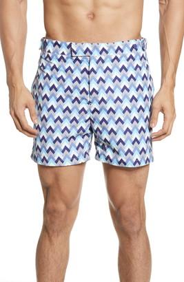 Frescobol Carioca Parquet Tailored Swim Shorts