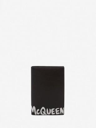 Alexander McQueen McQueen Graffiti Pocket Organizer