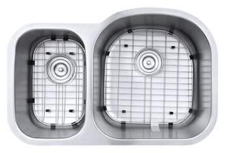 """Ruvati Varna 32"""" L x 21"""" W Double Basin Undermount Kitchen Sink Ruvati"""