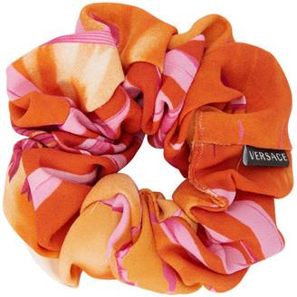 Versace Pink Graphic Scrunchie