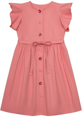 Oscar de la Renta Ruffled Sleeve Dress
