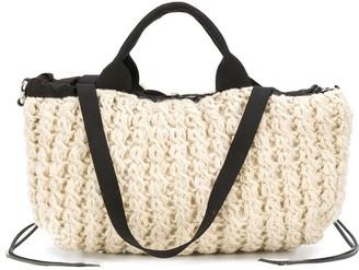 Muun knitted wool tote