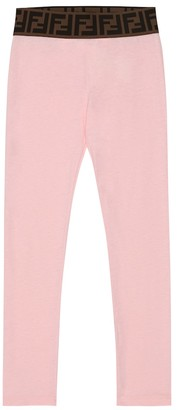 Fendi Kids Cotton jersey leggings
