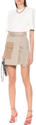MSGM Stretch-cotton miniskirt