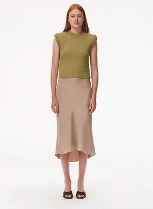 Tibi Tube Yarn Cropped Pullover
