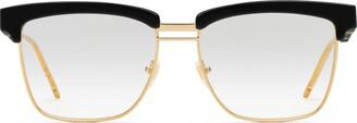Gucci Square metal and acetate glasses