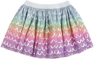 Stella McCartney Printed Stretch Tulle Skirt