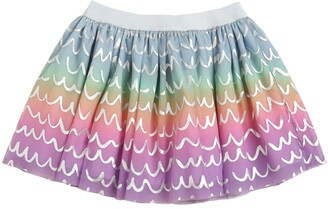 Stella McCartney PRINTED STRETCH TULLE SKIRT