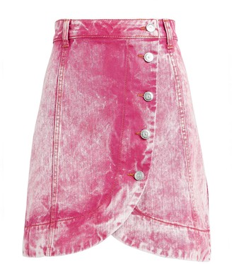 Ganni Acid Wash Denim Mini Skirt