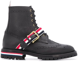 Thom Browne striped ankle boots