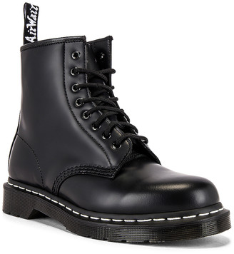 Dr. Martens 1460 White Stitch Boot in Black | FWRD