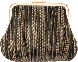 Nina Metallic Stripe Frame Clutch