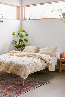 Urban Outfitters Petal Embroidered Gauze Duvet Cover