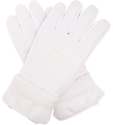 Fendi Logo Shell Ski Gloves - Womens - White