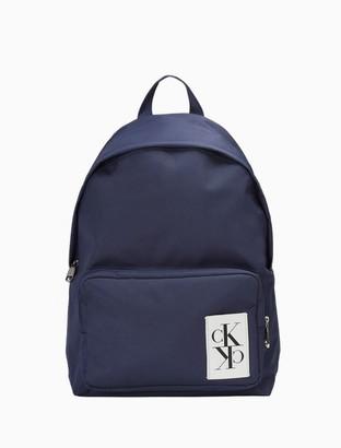Calvin Klein Sport Essentials Mirror Monogram Logo Campus Backpack